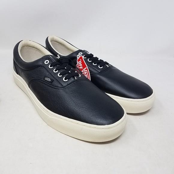 8fbed7f9ea Vans Era Cup Leather Black Skate Sneakers Men 11 NWT